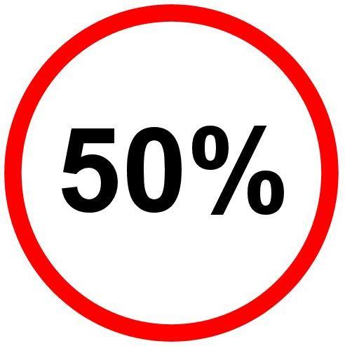 50% Aktion