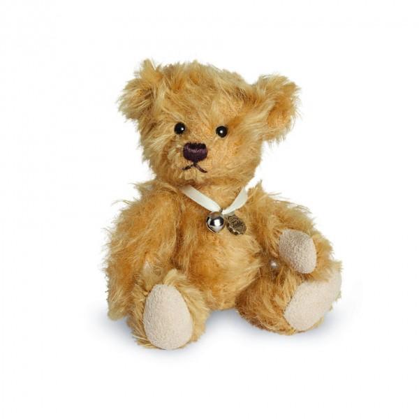Teddy Hermann 160007 Teddybär Baby gold 10 cm
