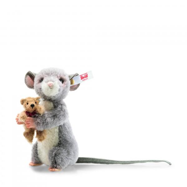 Steiff 006395 Maggy Maus 12 cm mit Teddybär