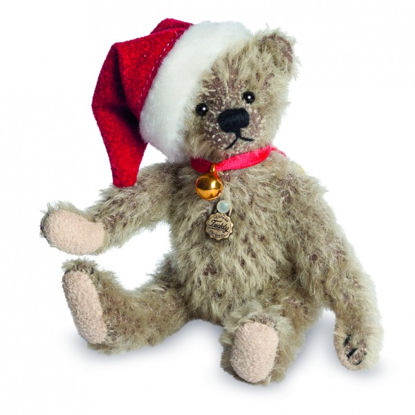 Teddy Hermann 154372 Miniatur-Weihnachtsbär 2017