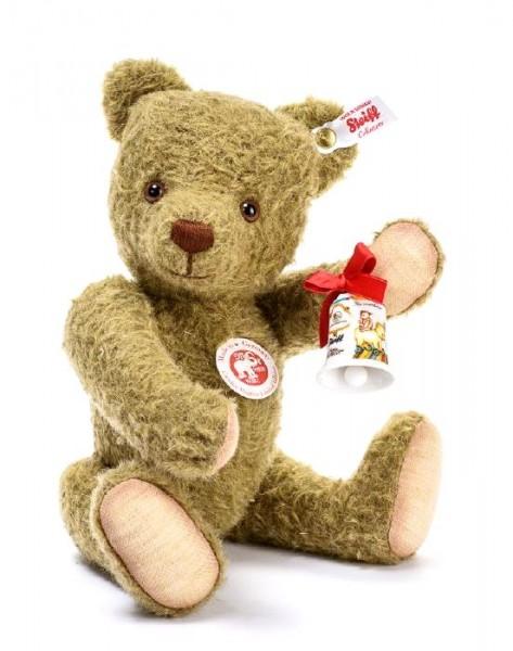 Steiff 674082 Teddybär Carolus Magnus 28 cm mit Musikwerk und Hutschenreuther Glocke