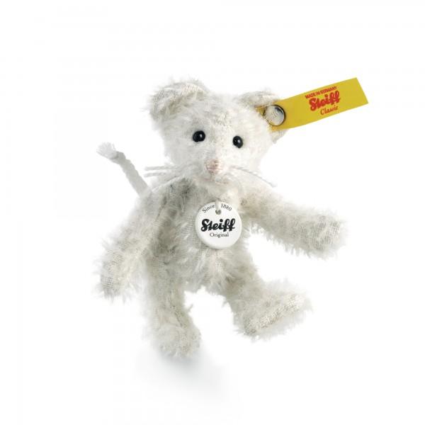 Steiff 001086 Maus Ted Teddybär Miniatur 8 cm weiß