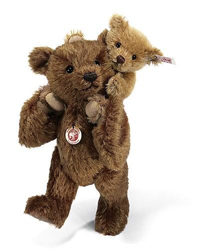 Steiff 656538 Teddybär Vater und Sohn Mohair 22 cm